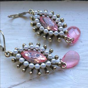 Betsey Johnson dangle faux pearl earrings